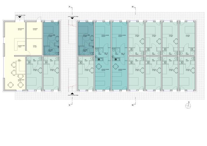 .hotel CRO, plan de l'étage