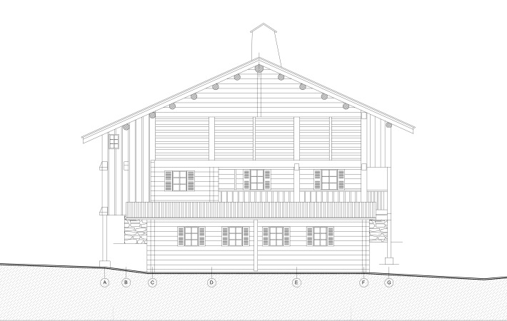 .maison BLA, façade principale du projet