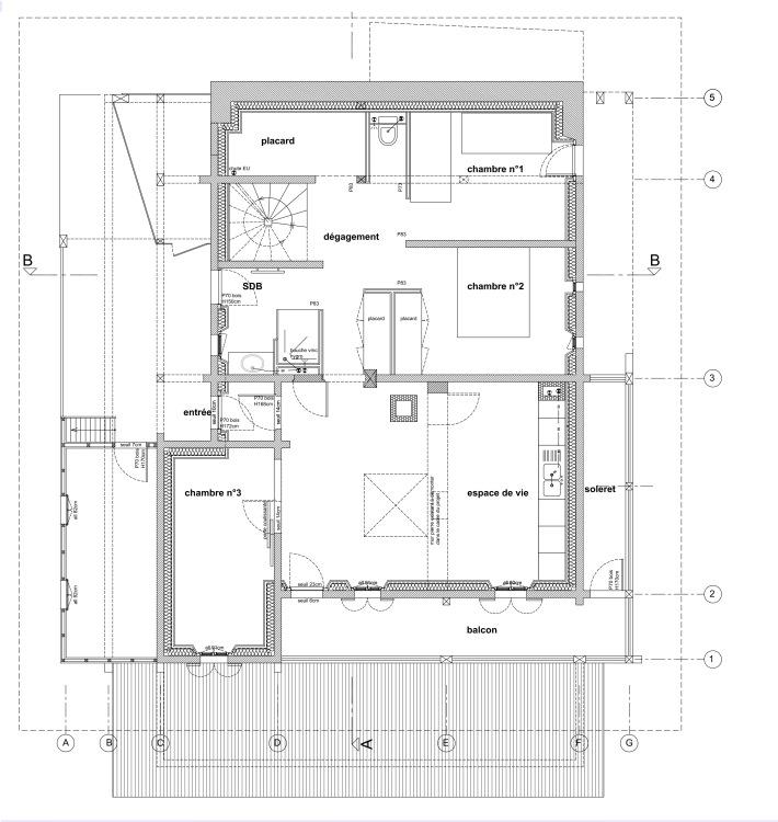 .chalet BLA, plan du projet d'aménagement